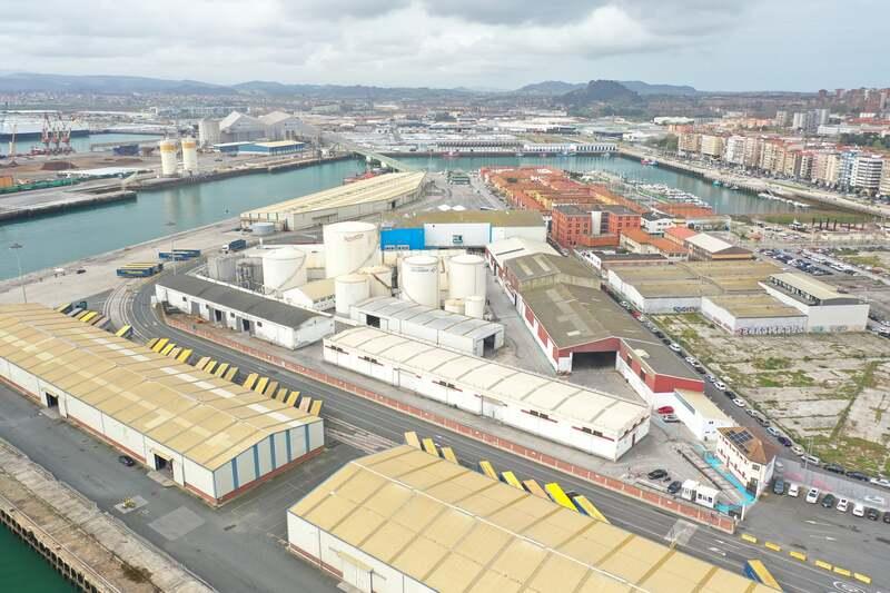 Imagen de las instalaciones propias de la Zona Franca de Santander
